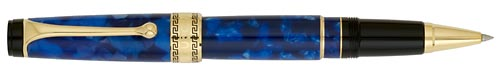 Blue Marble/Gold Trim finish - Rollerball shown