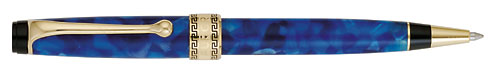 Blue Marble/Gold Trim finish - Ball Pen shown
