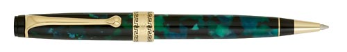 Green Marble /Gold Trim  finish - Ball Pen shown