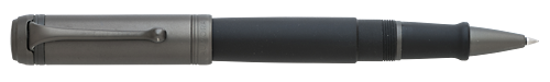 Black Doue-Black Satin/Ruthenium Plated Cap  finish - Rollerball shown