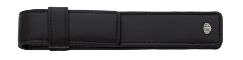 Black Leather Firenze finish - One Pen Case shown