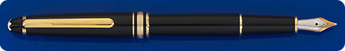 Montblanc Classique #144 Meisterstuck - Black Fountain Pen - Cartridge/Converter Fill - Converter Included - Made In W. Germany