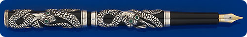 Parker Sterling Silver Snake Limited Edition Fountain Pen - #327 Of 5000  - Cartridge/Converter Fill - Converter Included
