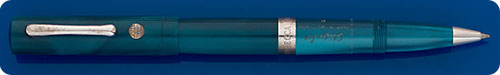 Stipula Limited Edition - #13 - Lustrous Turquoise Rollerball -  Sterling Silver Trim - Made For Rebecca Moss Shop NYC