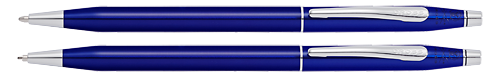 Translucent Blue Lacquer finish - Ball Pen & 0.7mm Pencil Set shown