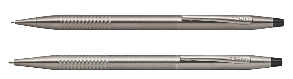 Titanium Gray PVD finish - Set-Ball Pen & Pencil shown