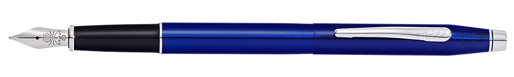 Translucent Blue Lacquer finish - Fountain Pen shown