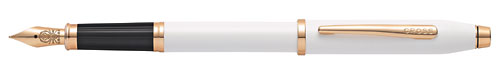White Lacquer finish - Fountain Pen  shown