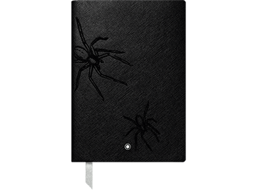 #146 Heritage Rouge & Noir Spider, Lined -192 Pages 6 x 8.2 in. - Spider Motif on Cover finish - Lined Notebook-192 pages- 6 x 8.2 in. shown