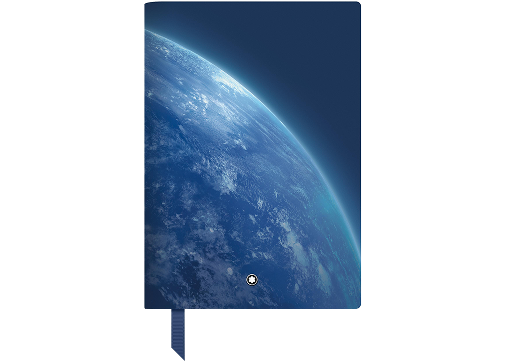 #146 StarWalker Blue Planet, lined   (#125910) finish - Lined Notebook-192 pages- 6 x 8.2 in.  shown