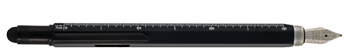 Black finish - Fountain Pen with Stylus, Ruler & Level shown