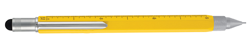 Yellow finish - Pencil 0.9mm with Stylus & Ruler  shown