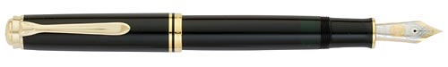 M1000 - All Black/Gold Trim finish - Black/Gold Fountain Pen shown