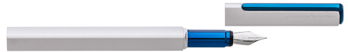 Silver & Blue   finish - Fountain Pen shown