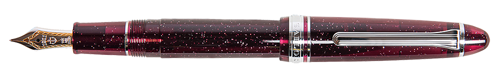 Cranberry Sparkle   finish - Standard Fountain Pen (14kt Gold Nib) shown