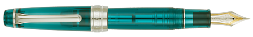 Lucky Charm Green Demonstrator finish - Pro Gear Fountain Pen (21kt Gold Nib) shown
