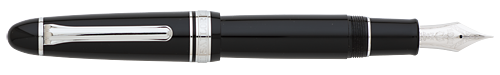 Black Resin/Rhodium Plated Trim-21kt Nib finish - 1911 Fountain Pen shown