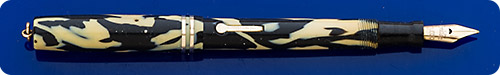 Conklin #2 Size - Ring Top - Black And Pearl - Lever Fill - Gold Filled Trim