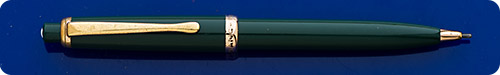 Montblanc #376 Pix Pencil - Green - Gold Filled Trim - Clip Has Some Pitting Marks