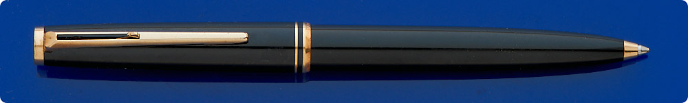Montblanc #281 - Black Ball Pen - Clip Activated - Gold Filled Trim