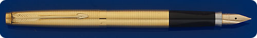 Parker #75 Fountain Pen - 14 Kt Gold  Filled - Cisele Cross Hatched Design - Cartridge Or Converter Fill  - Converter Included