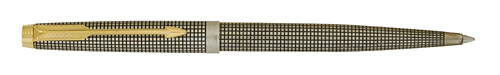 Parker #75 - Cross Hatch Sterling Silver - Ball Pen  - Cap Activated