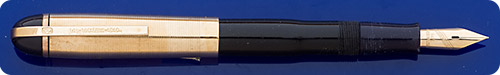 Wahl Eversharp Skyline - Blue Barrel - Gold Filled Cap - Lever Fill