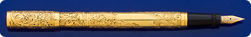 Waterman #0542 1/2 Gold Filled Filigree - Floral Design - Retractable Nib - Eyedropper Fill  - A Cataloged Design Made In The USA Waterman Factory