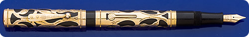 Waterman #0552 - Gold Filled Filigree Overlay - Lever Fill - Script Engraving